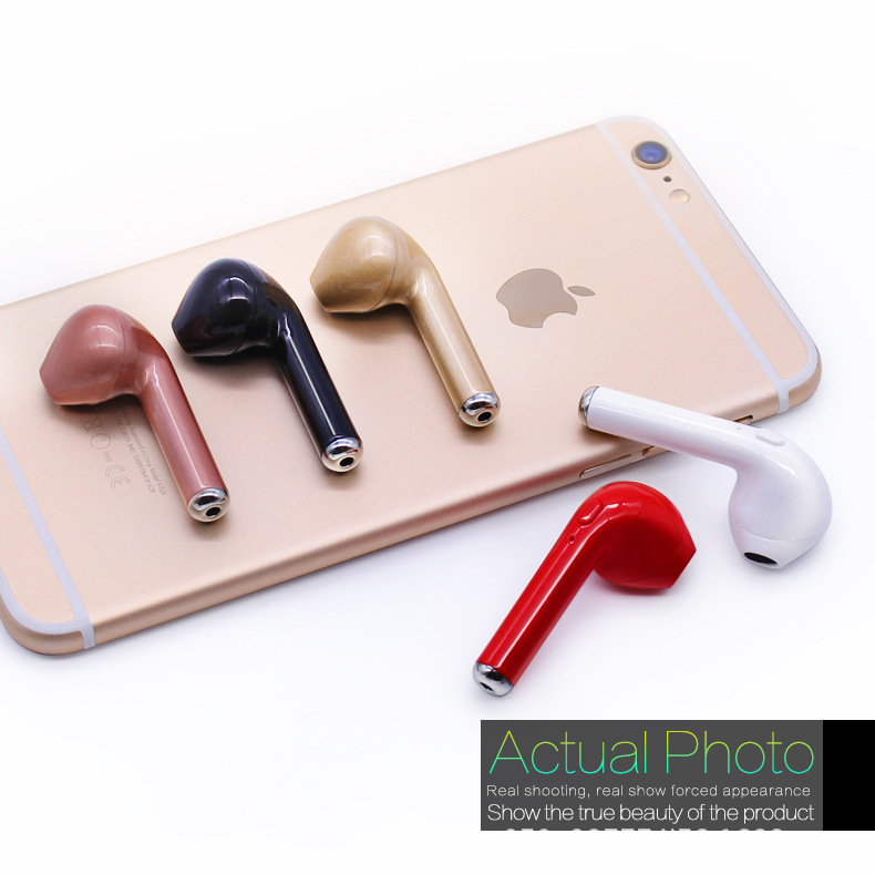 for iPhone 7 plus 7 6 6s 5 5s X Samsung S8 Plus Xiaomi Smartphone Wireless Earphone Bluetooth Headset I7 In-Ear Invisible Earbu