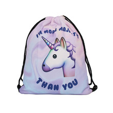 Mutilcolor Fashion School Drawstring backpack Bag Shoe Backpack Polyester women solid drawstring bags bolsa cordones mochila