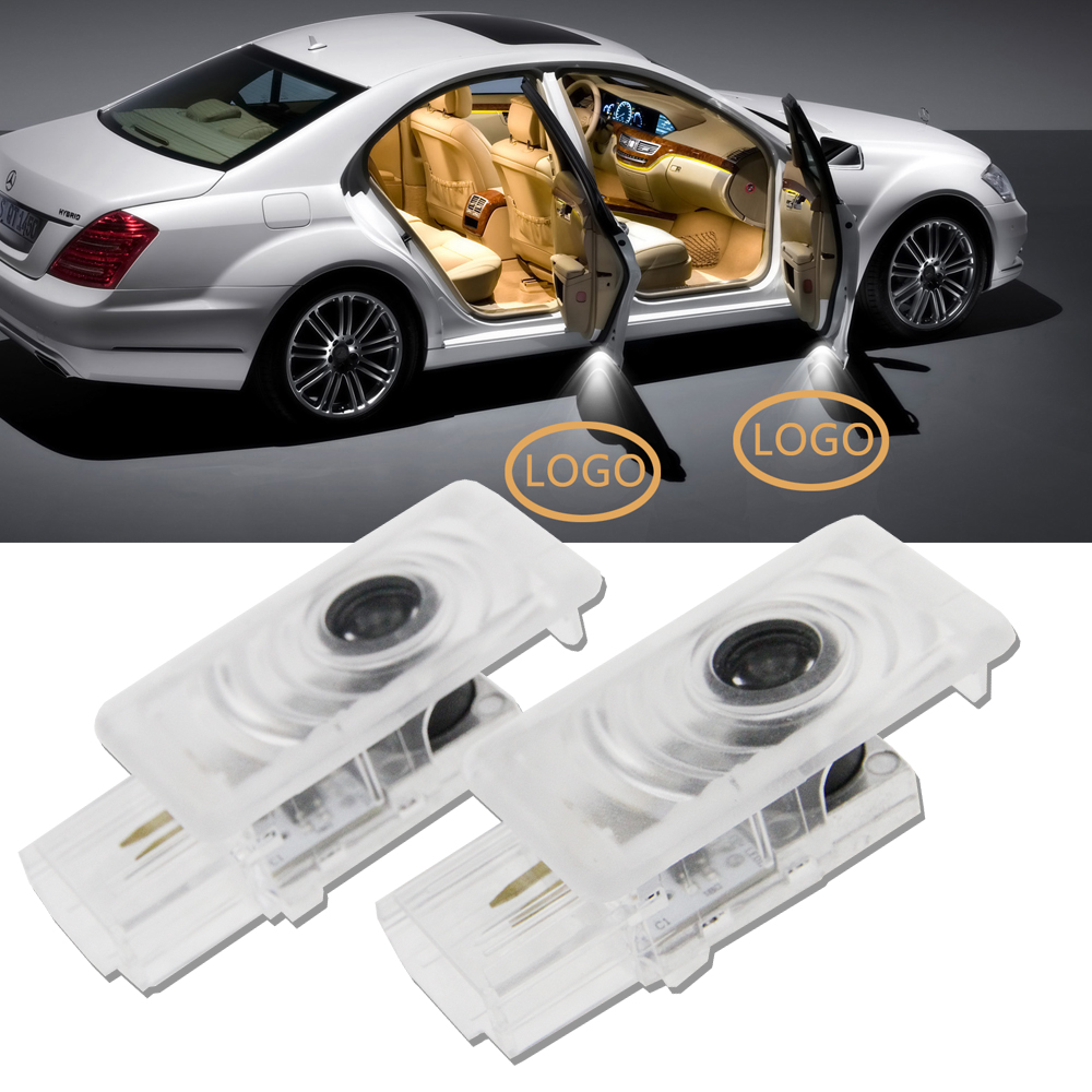 2pcs/lot LED Door Step Courtesy Light Welcome Light Laser Shadow Logo Projector Lamp For Buick LaCrosse Envision Allure Enclave