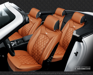 Image 2 - 5 seats Car Seat Cover Sports Styling,Senior Leather, Whole Surrounded Car Seat cushion,car  Interior Accessories