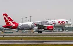 47 см смолы A320 Air Asia модель самолета 100th Юбилей Дракон Airlines Airbus Air Asia A320-200 Airways самолет модель