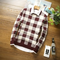 New Winter Warm Christmas Sweater Round Collar Slim Fit Knitting Cashmere Mens Sweaters And Pullovers Youth Pullover Men