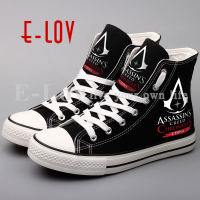 2017 Hot Sale Assassins Creed Canvas Shoes Printing Assassins S Game Edward Casual Shoes Women Street
