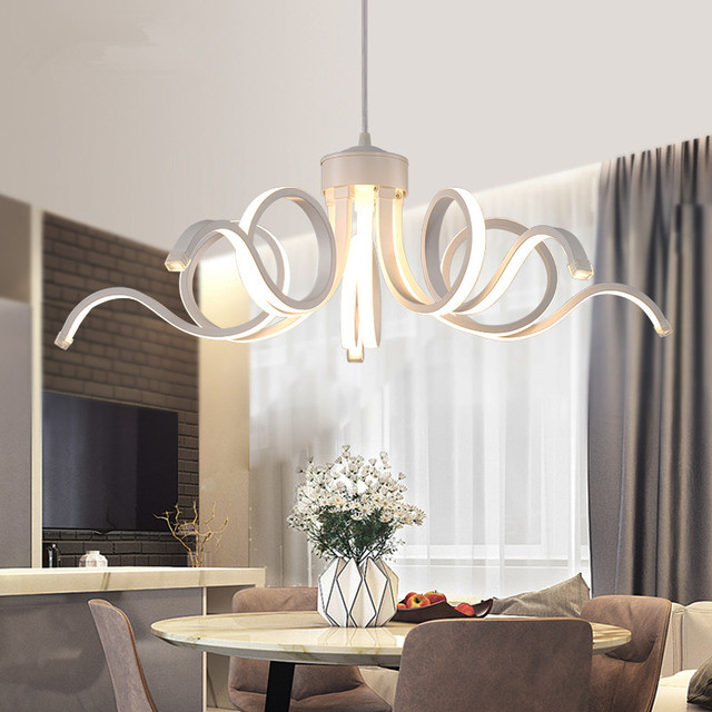 Modern High Power LED Chandelier Led Lamps Quality Aluminum Acrylic Chandeliers Living Room