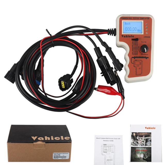 Auto diesel common rail testador de pressão e ferramenta de reparo para denso simulador/bosch/delphi cr508
