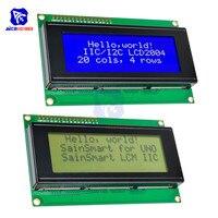 Diymore LCD2004 Module bleu/jaune caractère jaune/noir caractère rétro-éclairage pour Arduino Uno R3 Mega2560 framboise Pi 5V