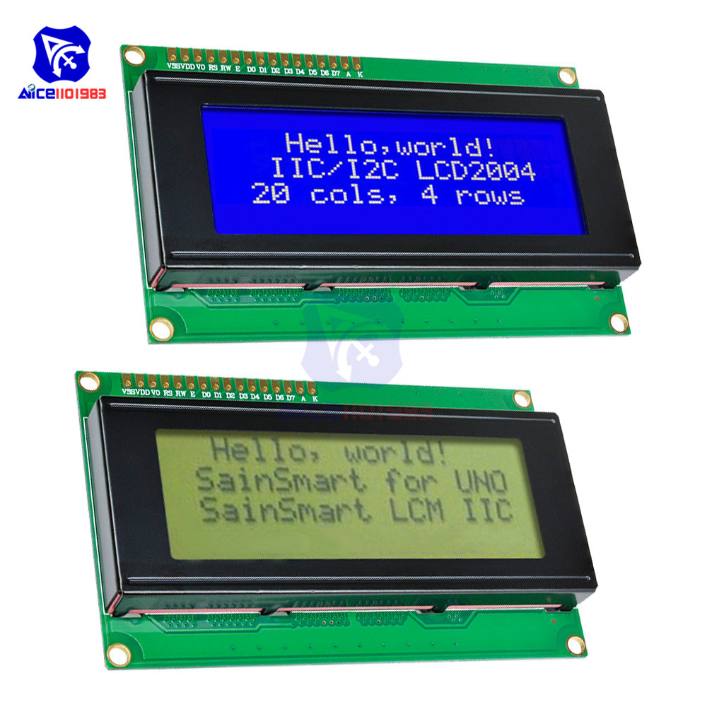 LCD2004 Module Blue/White Character Yellow/Black Character Backlight For Arduino Uno R3 Mega2560 Raspberry Pi LCD Display 5V