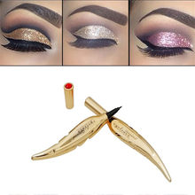 MAANGE Gold Feather Black Liquid Eyeliner longlasting glitter Eyeliner Makeup Cosmetics Eye Beauty Waterproof Eyeliner#y35(China)