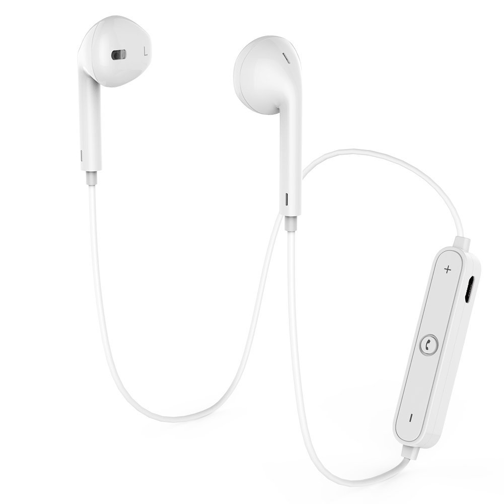 Wireless Bluetooth White Headphones 4.1 Earbuds Sport Stereo Headset Noise Cancelling Sweat Proof Wireless Bluetooth Headset