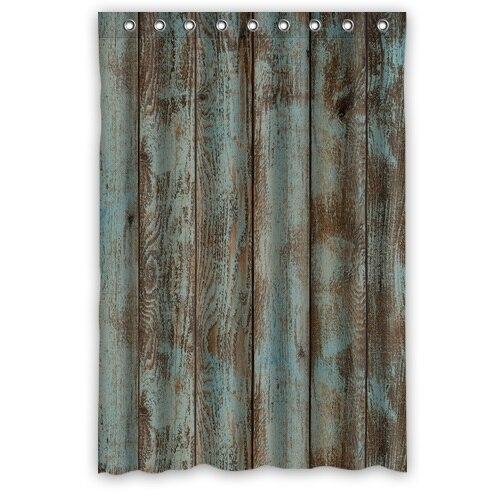 Print Vintage Rustic Knotty Wood Shower Curtain Modern Design Waterproof  Bathroom Curtains(China (Mainland