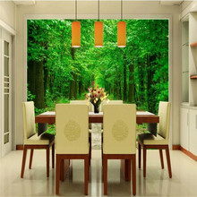 Avenue 3D landscape background wall painting professional production murals, wallpaper wholesale, custom poster photo wall