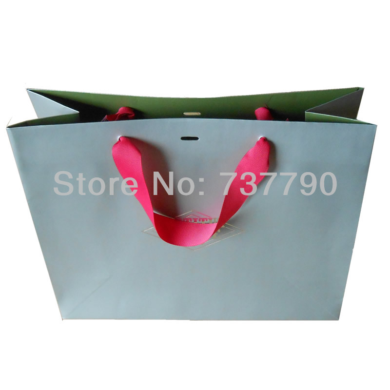 25x30x10cm custom printed logo gift paper bag/Recyclable packaging white paper bag for product