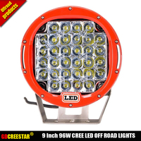 96W Round LED Car Work Light Driving Lamp Off Road For Truck ATV SUV Boat 4WD