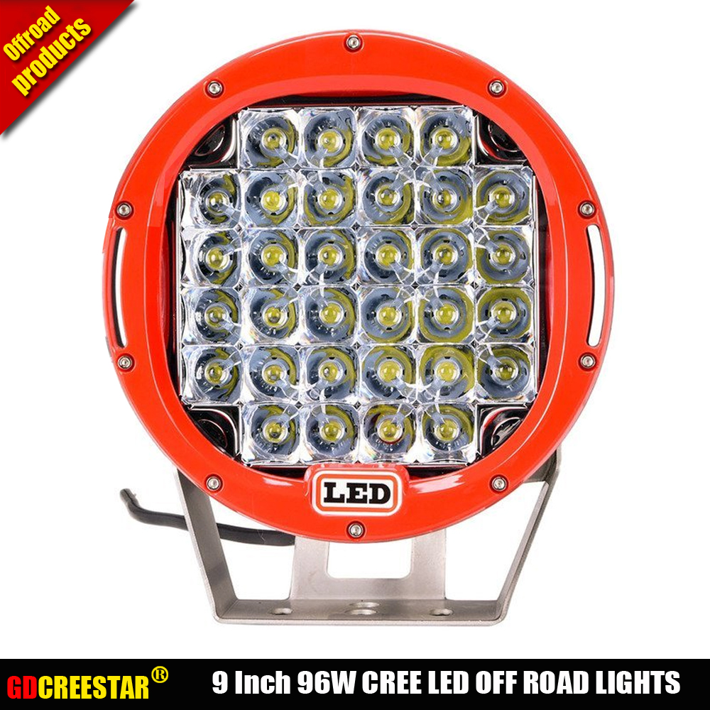 96W led lights 12V 24V Round  Off road lamps for Truck ATV SUV Boat 4WD ATV Auxiliary Lights Road Fog Lights x1pc free shipping