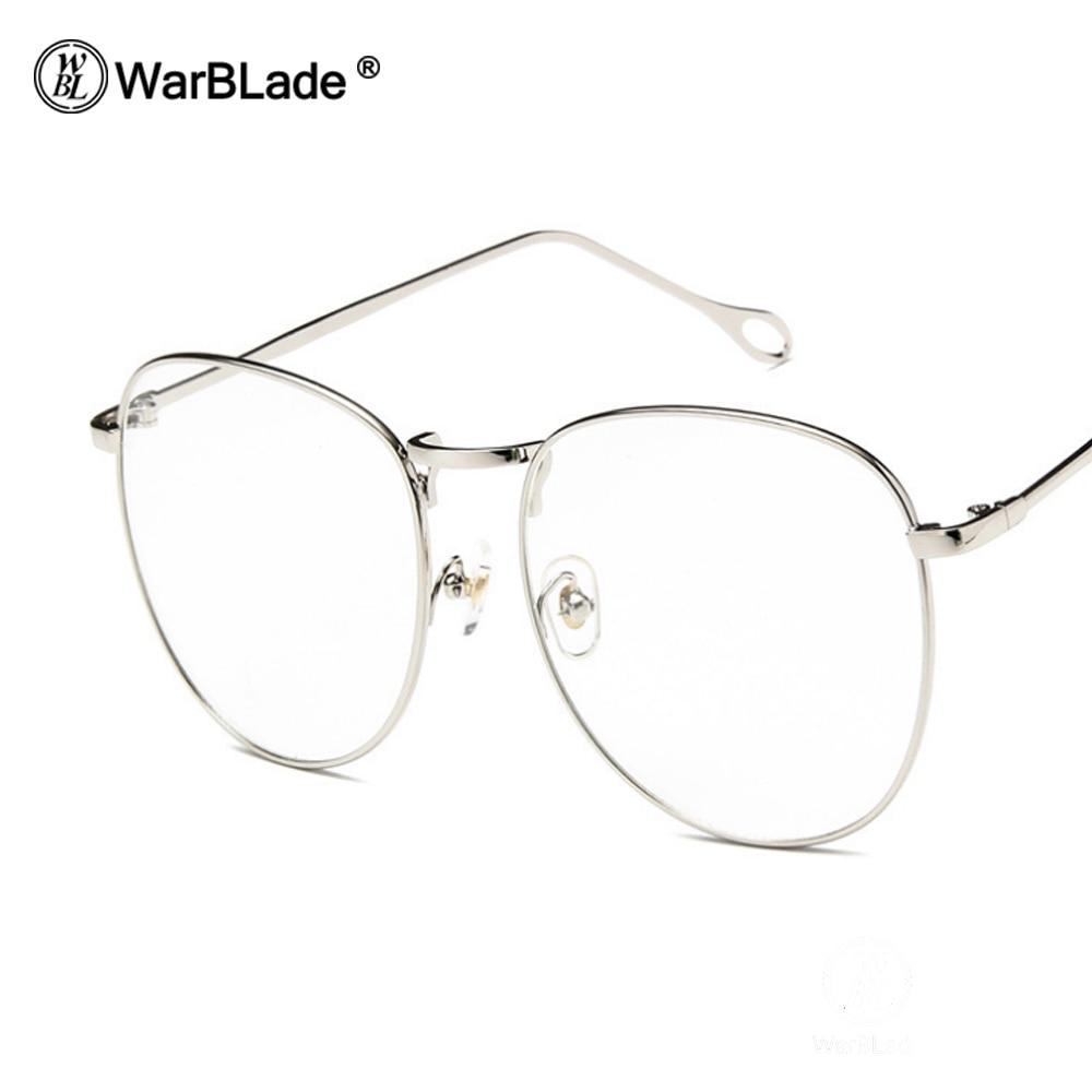 13f57dfab6 2018 Clear Lens Glasses Men Women Retro Metal Frame Eyeglasses Wrap Oversize  Glasses Frames Unisex Black Solid Eyewear WarBLade