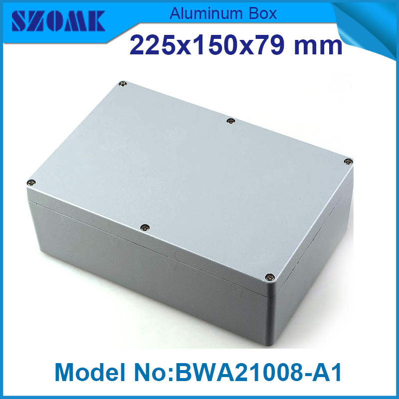 1 piece free shipping aluminium junction housing case for electronics waterproof  IP 68 box 79(H)x150(W)x225(L) mm free shipping 1piece lot top quality 100% aluminium material waterproof ip67 standard aluminium box case 64 58 35mm