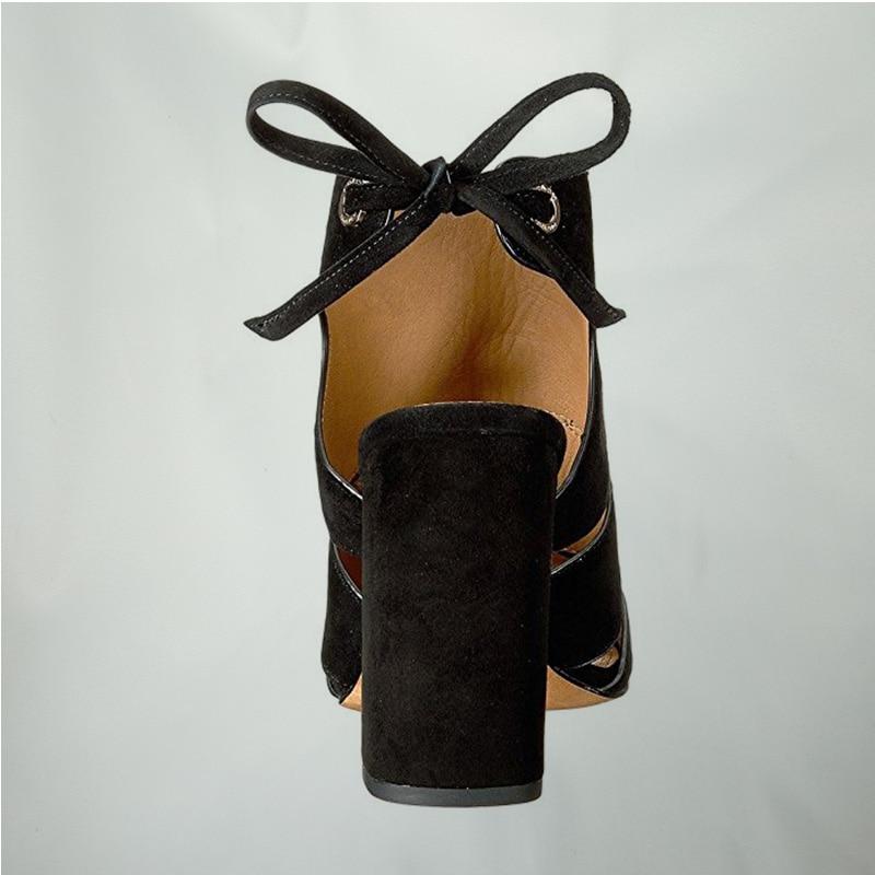 En De Fsj01 Chaussures Artisanat Haute Taille Plein Ouvert Femmes Mode Daim Carré Air Bottes Talons Bout Cheville Fsj Grande fsj02 14 La 2018 D'été Sandales Bride À pxrr5nw