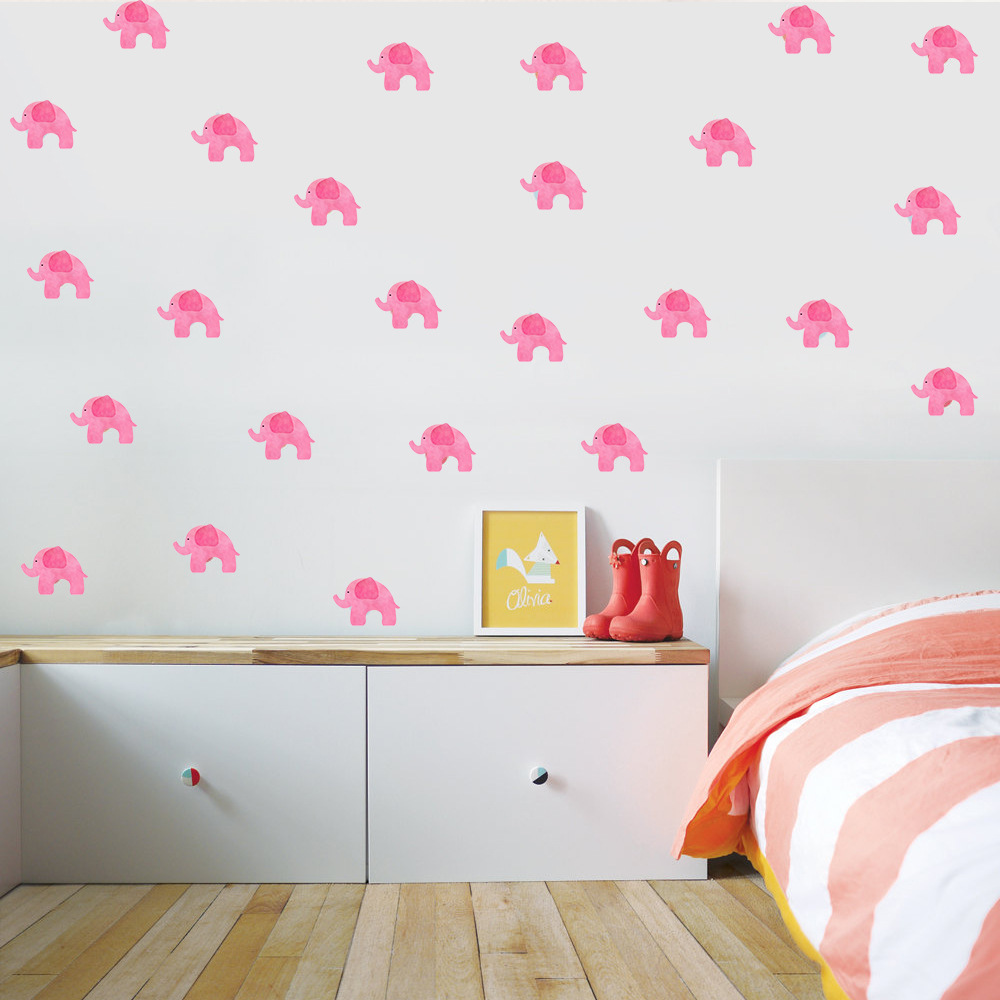 6 sheets diy pink elephant wall stickers decals kids children room 6 sheets diy pink elephant wall stickers decals kids children room home decoration vinyl wall art stickers kw7052405 in underwear from mother kids on amipublicfo Choice Image