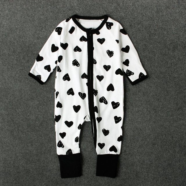 010ec48c16b Funny Baby Rompers Long Sleeve Tiny Cotton Romper Baby girls Love Heart  Printed Jumpsuit One Pieces boy Clothes onesie outfits