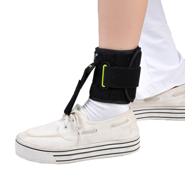 Adjustable Drop Foot Support AFO AFOs Brace Strap Elevator Poliomyelitis Hemiplegia Stroke Universal Size