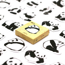 40 PCS Chinese Treasure Pandas Sticker Cute Decals Stickers Gifts for Children to Laptop Suitcase Guitar Fridge Bicycle Car(China)