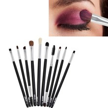 10pcs MAANGE Makeup Brushes Set Power Eye Shadow Brow Lash Liner Lip Concealer Cosmetics Make Up Brush Beauty Tool Kits