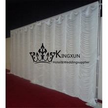 Hot Sale And New Design Wedding Backdrop Curtain  Wavy Background