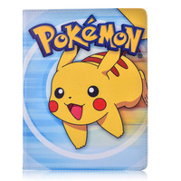 Case For Apple Ipad 6 Ipad Air 2 Pokemon Go Cute Pikachu Tablet PU Leather Cover