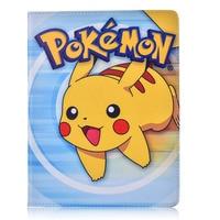 Case For Apple Ipad 6 Ipad Air 2 Pokemon Go Cute Pikachu Tablet PU Leather Cover