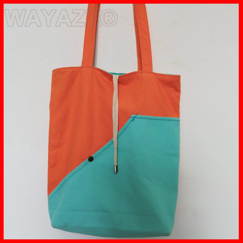 1Pcs/Lot Canvas Tote Shopping Bag With Lining Inside