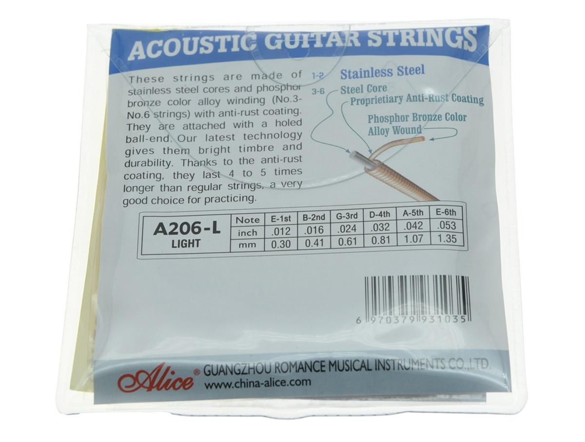5 Sets Alice Stainless Steel Folk Akoestische Gitaar Snaar Licht - Muziekinstrumenten - Foto 2