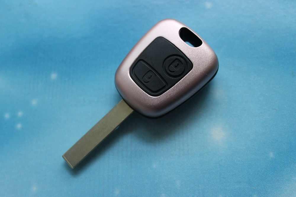 CYCTEM klucz samochodowy pokrywa 2 przyciski zdalnego klucz Shell Case wymiana nadające się do Peugeot 407 HU83 ostrze