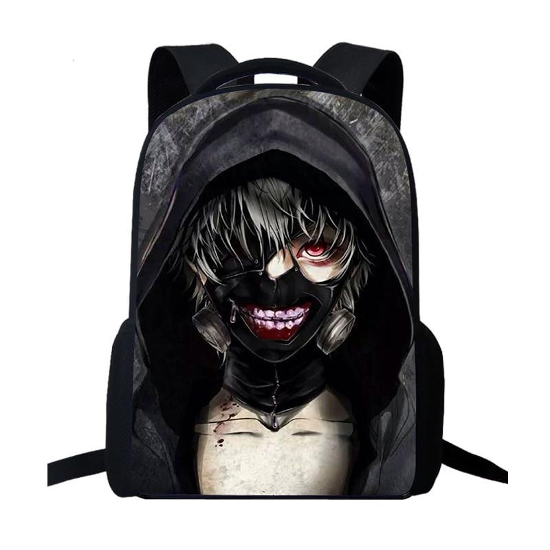 Anime Tokyo Ghoul Backpack Women Men Travel Backpack Laptop Backpack Kids School Backpack Cool Teens Boys Girls School Bag