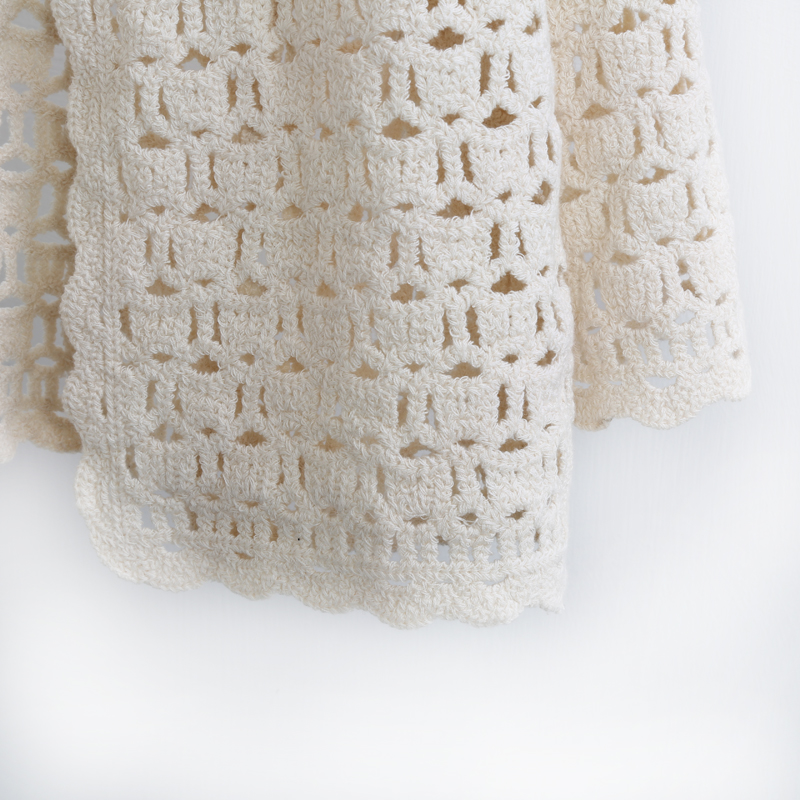 Crochet White Lace Hollow Out Knitted Cardigan Blouse 6