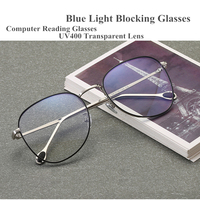 Vintage Round Anti Blue Ray Blocking Filter Glasses Frame Men, Computer Reading Goggles Glasses Optical Spectacle Frame Women