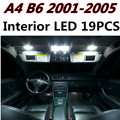 19pcs X free shipping Error Free LED Interior Light Kit Package for AUDI A4 B6 S4 accessories 2001-2005