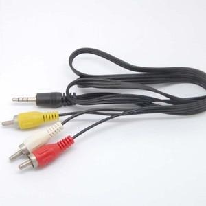 Image 3 - 3.5mm כדי 3 RCA AV/V טלוויזיה וידאו כבל כבל עבור MP3 MP4 PMP מדיה נגן חדש