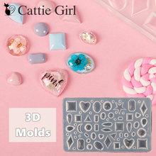3d acrílico diamante jóias molde para decorações da arte do prego geométrico silicone arte do prego modelos unhas arte diy bolo padrões