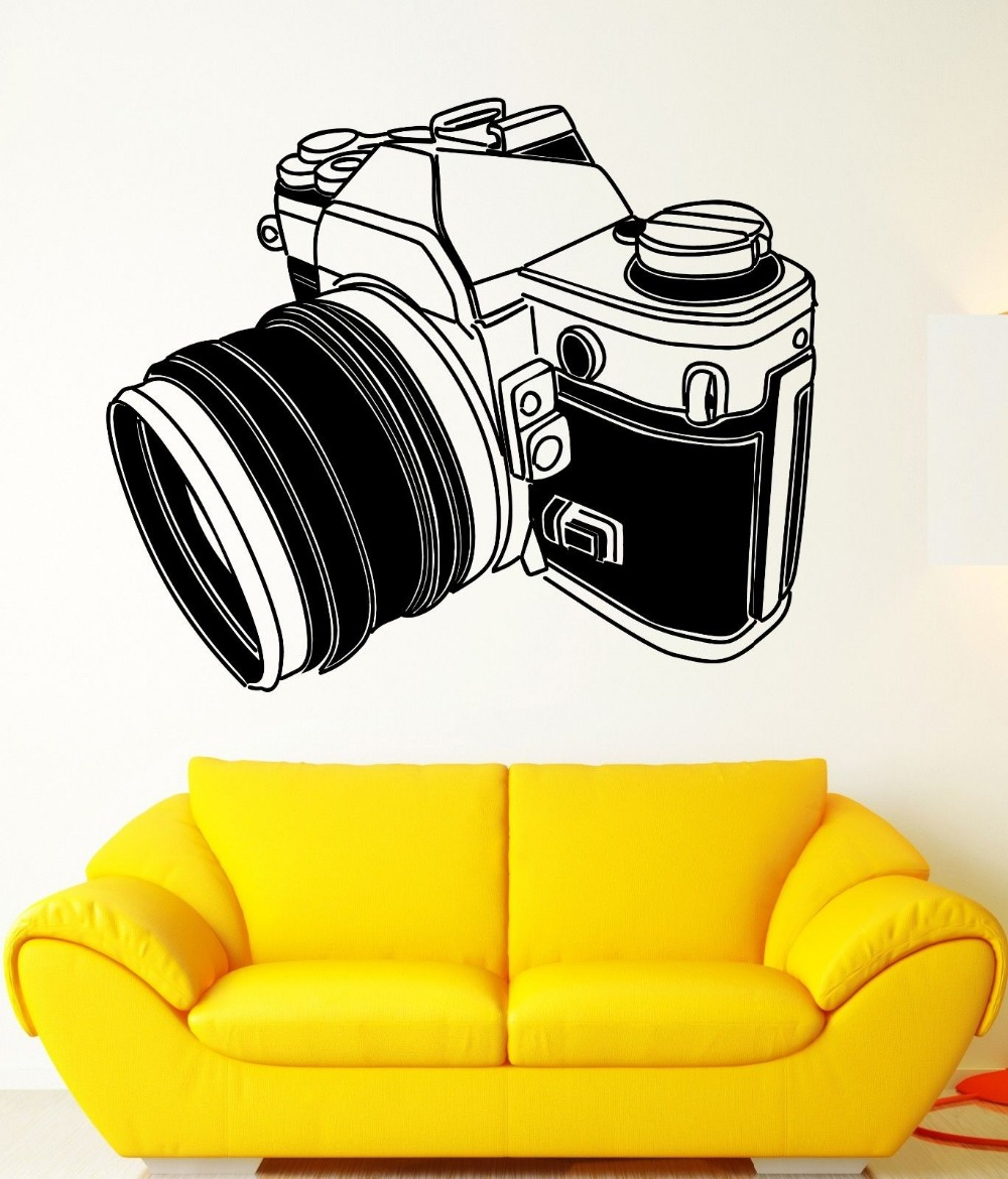 3d Poster Wall Stickers Vinyl Decal Camera Photographer Photo Art  Photography Removable Wall Decals Mural Wallpaper D936