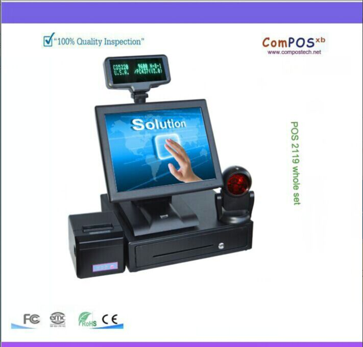 retail restaurant cash register 15 inch Retail Restaurant China POS System/ POS Terminal/epos system/cash register newest pos pc cash register machine 15 inch tft led touch screen double monitor point of sale pos terminal for restaurant