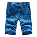 S210 4 цвета 29-38 100% хлопок 2017 летние цветочные шорты мужчин slim fit высокое качество мужские шорты короткие masculino