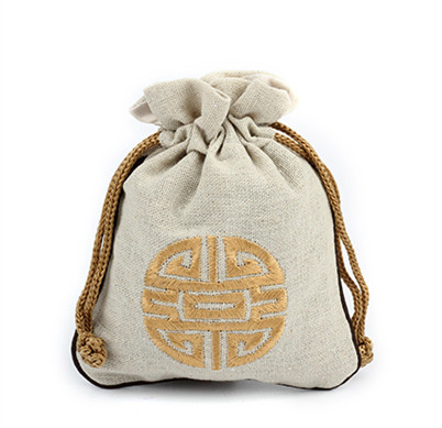 China style Cotton Linen Small Gift Bag for guests Wedding Party ...