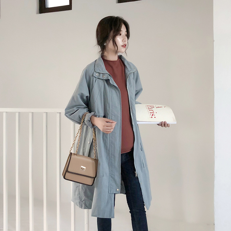 Pregnant women autumn and winter new windbreaker jacket Pregnant women loose casual jacket Pregnant women long cotton coat deaver j carte blanche