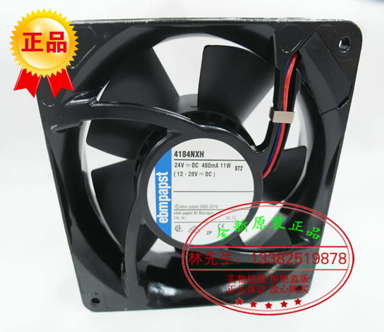 ФОТО New Original EBM PAPST 4184NXH DC24V 460mA 11W 120*120*38MM 12cm high temperature resistant cooling fan