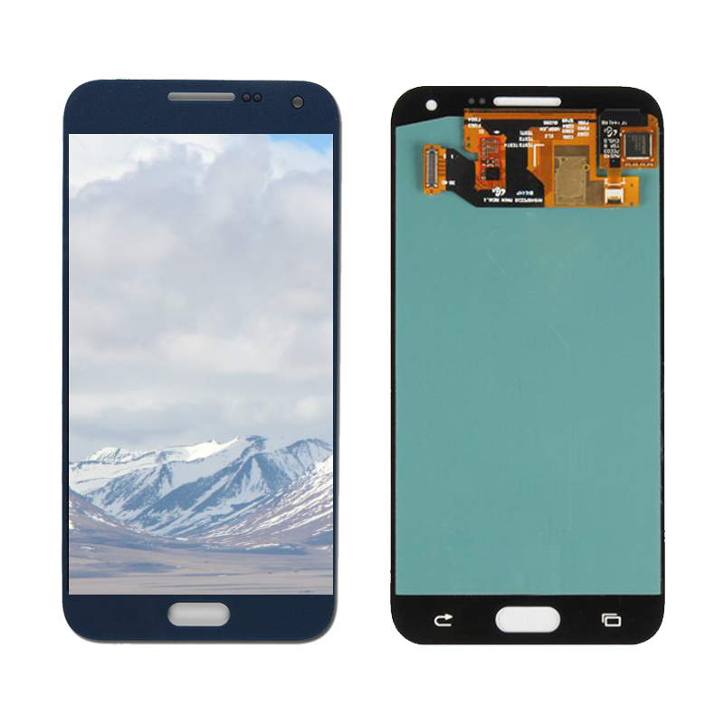 E5 AMOLED LCD For Samsung Galaxy E5 LCD Touch Digitizer Assembly E500 E5000 LCD E500F Display E500H E500M Phone LCD phone parts in Mobile Phone LCD Screens from Cellphones Telecommunications