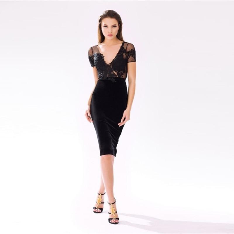 Online Get Cheap Black Satin Cocktail Dresses -Aliexpress.com ...