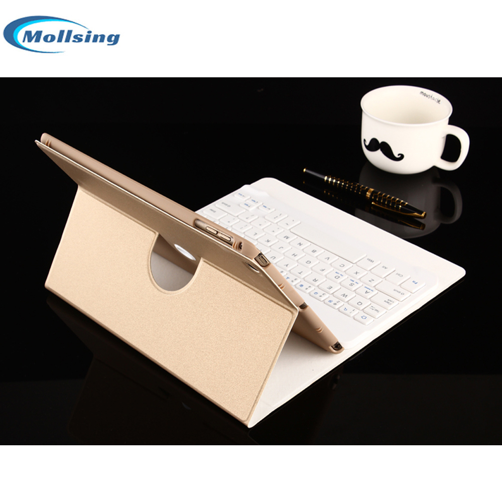 Mollsing Ultra-thin Wireless Bluetooth Keyboard for iPad Air 1/Air 2 Protective Cover Case Foldable Holder Keyboard for iPad Air for ipad air 1 case with keyboard wireless bluetooth keyboard abs plastic stand protective bluetooth keyboard for ipad 5