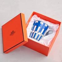 Blue Fine Bone China Coffee Mug and cup European Style Creative Ceramic Afternoon Tea Teacup For Water Beautiful Gift Box