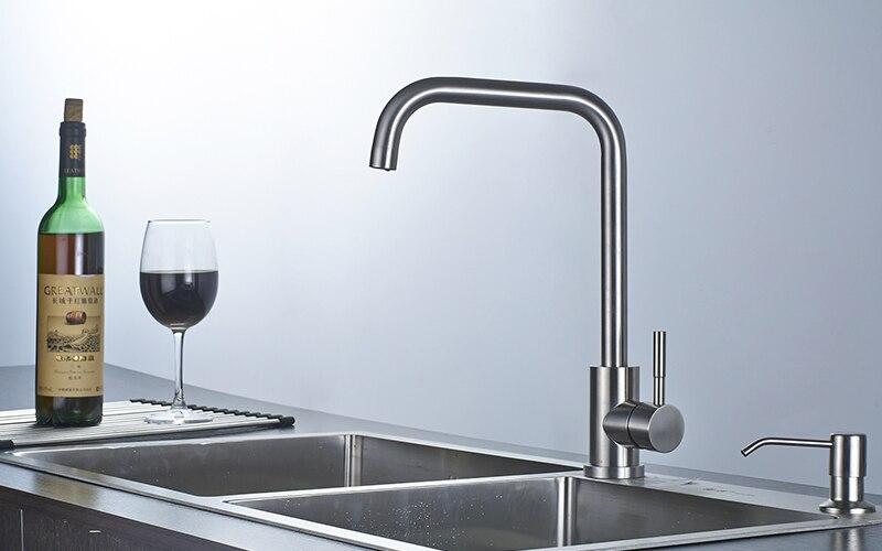 Nickel Gebürstet Küchenarmatur Moderne Küche Mischbatterie Edelstahl