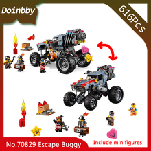 In Stock 45008 Movie Emmet and Lucy's Escape Buggy Model Building Block 616pcs Bricks Toys Gift Compatible With Legoings 70829